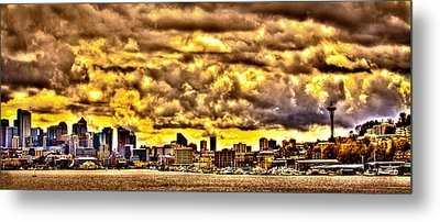 Seattle Cityscape IIi Metal Print by David Patterson