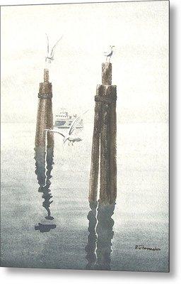 Seattle Ferry Metal Print by Robert Thomaston
