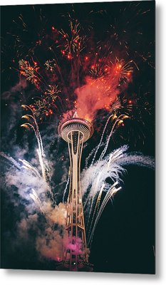 Seattle Metal Print by Happy Home Artistry