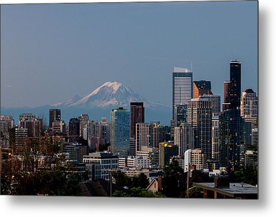 Seattle-mt. Rainier In The Morning Light .1 Metal Print