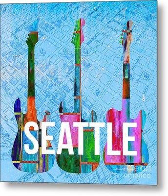 Seattle Music Scene Metal Print