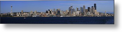 Seattle Panoramic Metal Print by Adam Romanowicz