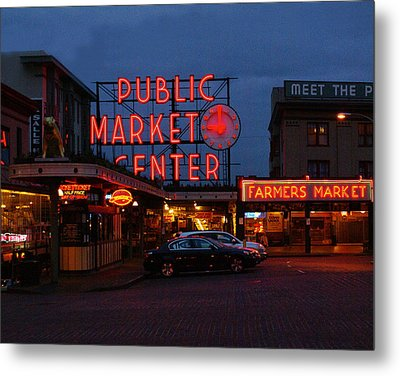 Seattle Public Market Metal Print by Sonja Anderson