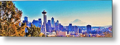 Seattle Sky Metal Print by Martin Cline