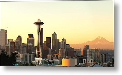 Seattle Skyline From Kerry Park Metal Print