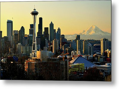 Seattle Skyline Metal Print by Greg Sigrist