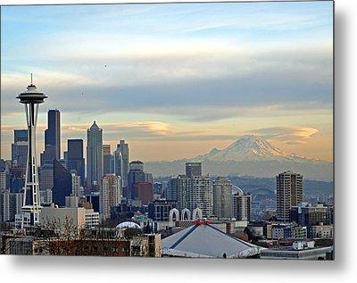 Seattle Skyline Metal Print by Matthew Adair