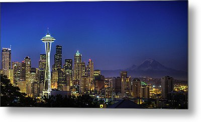 Seattle Skyline Metal Print by Sebastian Schlueter (sibbiblue)