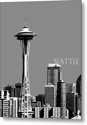 Seattle Skyline Space Needle - Pewter Metal Print by DB Artist
