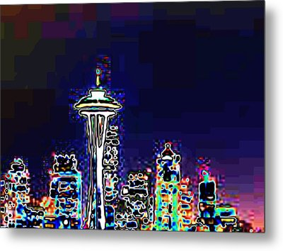 Seattle Skyline Metal Print by Tim Allen