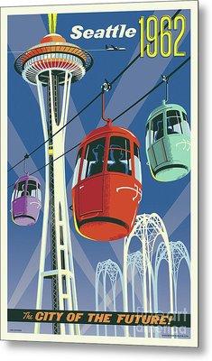 Seattle Space Needle 1962 Metal Print