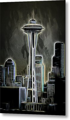 Metal Print featuring the photograph Seattle Space Needle 2 by Aaron Berg