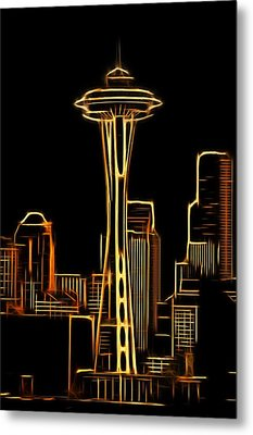 Metal Print featuring the photograph Seattle Space Needle 3 by Aaron Berg