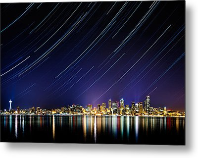 Seattle Stars Metal Print by Victor Dallons