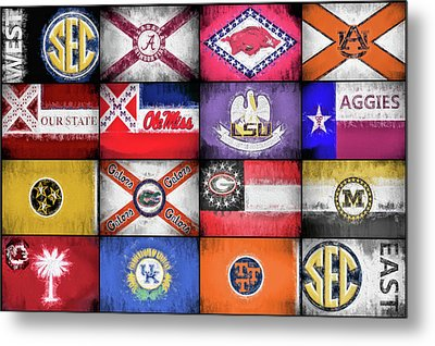 Sec Flags Metal Print by JC Findley