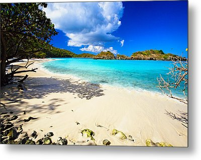 Secluded  Beach Metal Print by George Oze