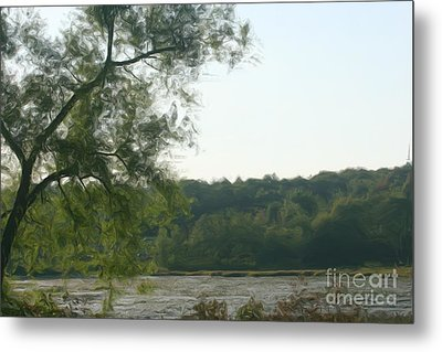 Metal Print featuring the painting Secluded Marsh by Smilin Eyes  Treasures