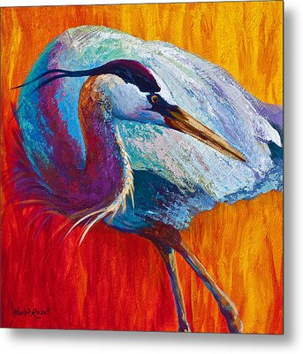 Second Glance - Great Blue Heron Metal Print