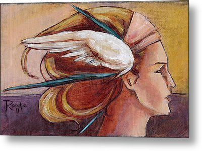 Secondary Wings Right Metal Print by Jacque Hudson