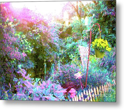 Metal Print featuring the photograph Secret Garden by Susan Carella