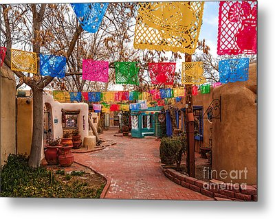 Secret Passageway At Old Town Albuquerque II - New Mexico Metal Print