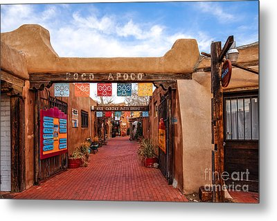 Secret Passageway At Old Town Albuquerque - New Mexico Metal Print