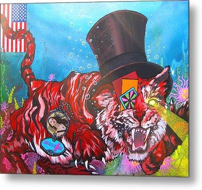 Secret Tigers Metal Print
