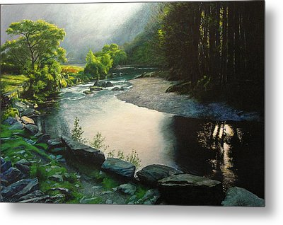 Metal Print featuring the painting Secret Valley by Harry Robertson