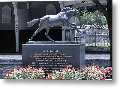Metal Print featuring the photograph Secretariat by  Newwwman