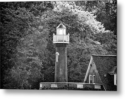 Metal Print featuring the photograph Sedgely Club - Turtle Rock Lighthouse by Bill Cannon