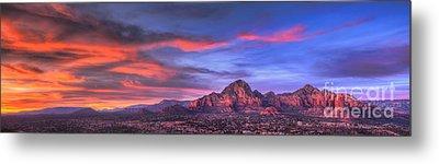 Sedona Arizona At Sunset Metal Print by Eddie Yerkish