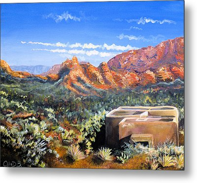 Metal Print featuring the painting Sedona by Chad Berglund