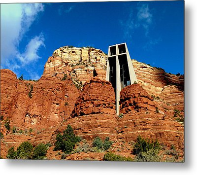 Sedona Chapel Of The Holy Cross Metal Print by Cindy Wright