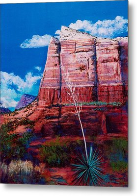 Metal Print featuring the painting Sedona Red Rock by M Diane Bonaparte