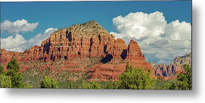Metal Print featuring the photograph Sedona, Rocks And Clouds by Bill Gallagher