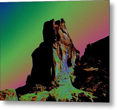 Sedona Solarized Metal Print by Barry Shaffer