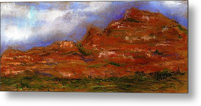 Metal Print featuring the painting Sedona Storm Clouds by Marilyn Barton