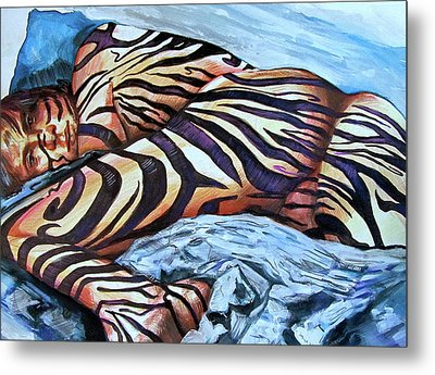 Seduction Of Stripes Metal Print