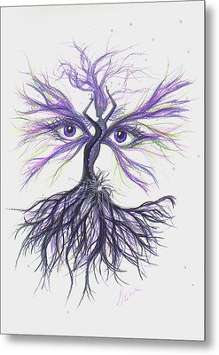 Metal Print featuring the drawing See Lavender by Dawn Fairies