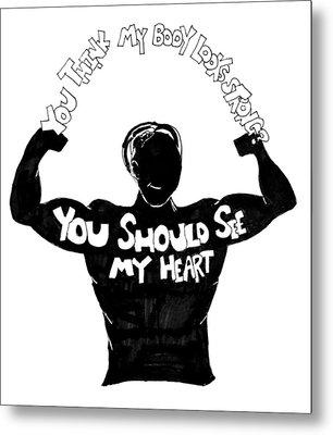 See My Heart Metal Print