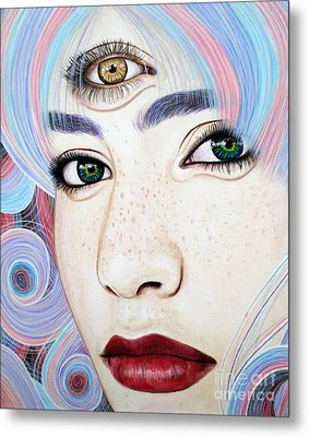 See With Your Soul Metal Print by Malinda Prudhomme