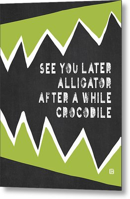 Metal Print featuring the painting See You Later Alligator by Lisa Weedn