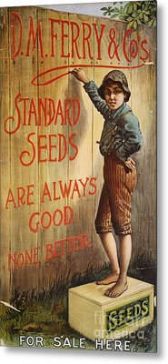 Seed Company Poster, C1890 Metal Print by Granger