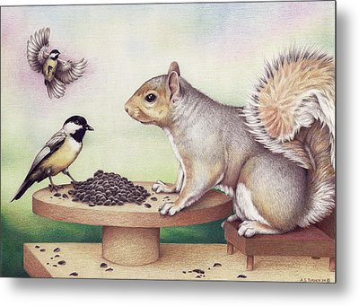 Seed For Two Metal Print by Amy S Turner