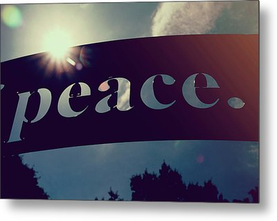 Metal Print featuring the photograph Seek Peace And Pursue It by Joel Witmeyer