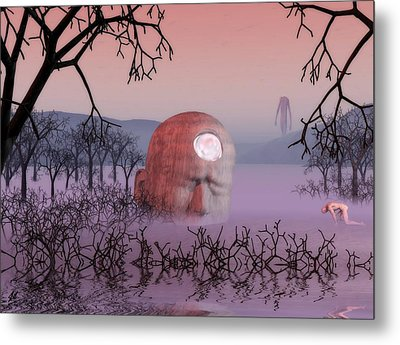 Seeking The Dying Light Of Wisdom Metal Print