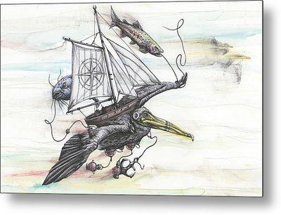 Seeking Value Through Sea And Sky Metal Print