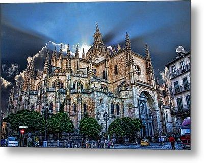Segovia Cathedral  Metal Print by Angel Jesus De la Fuente