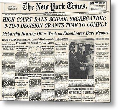 Segregation Headline, 1954 Metal Print by Granger