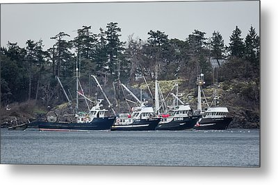 Metal Print featuring the photograph Seiners In Nw Bay by Randy Hall